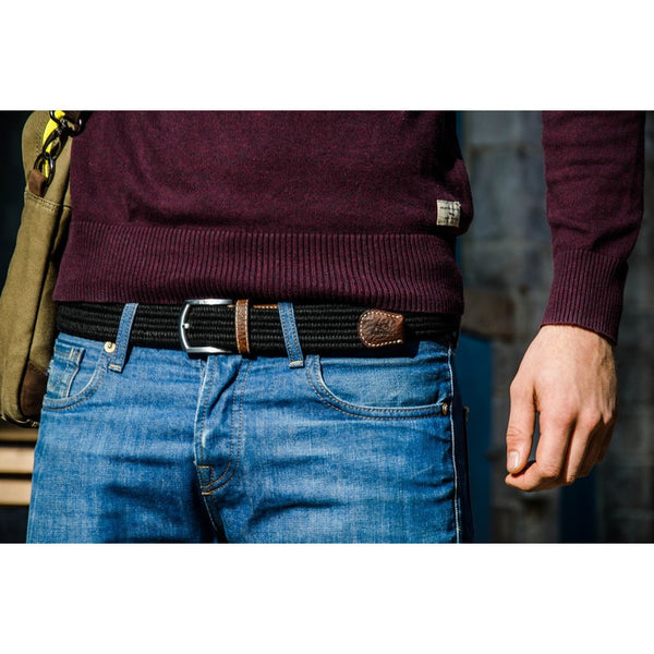 Club Black Wool Belt by Billy Belt - The Perfect Provenance