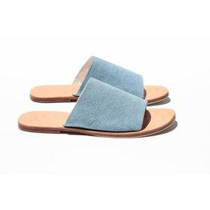Blue Denim Off Duty Slides