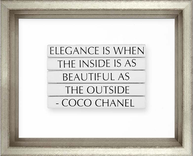 Elegance is When the Inside is as Beautiful as the Outside -- Coco Chanel - The Perfect Provenance