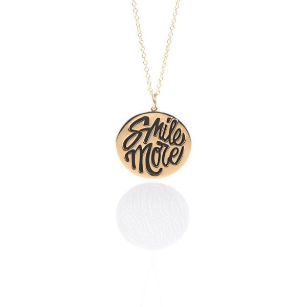 Gold Smile More Disc Pendant - The Perfect Provenance