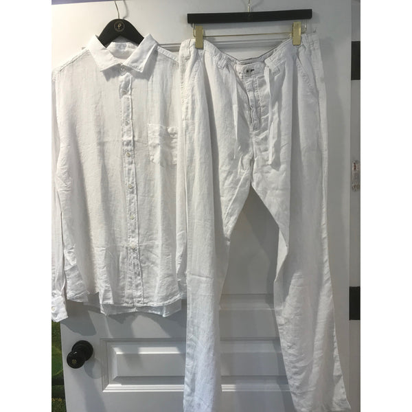 White Linen Pants By Hartford