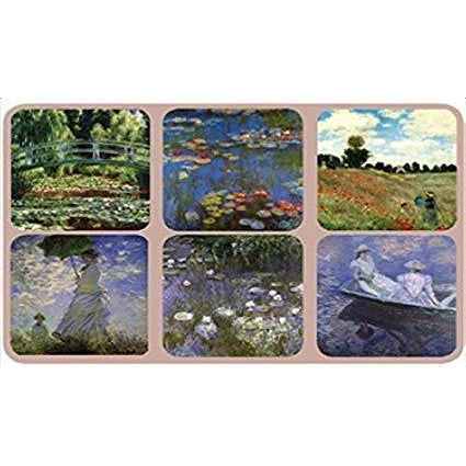 Monet Coasters Set of 6 by Kiss That Frog