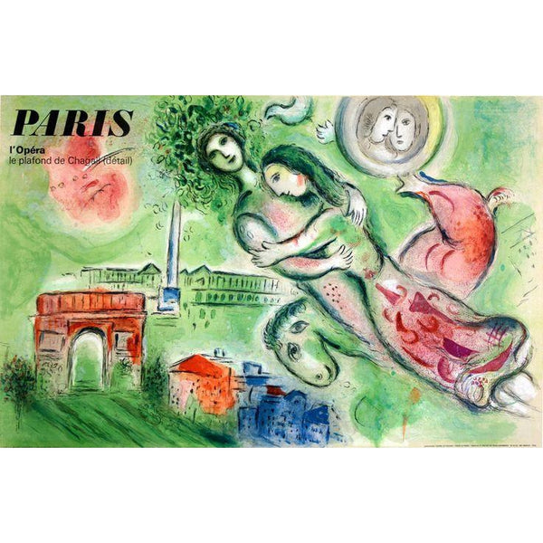 Paris Opera Vintage Poster By Marc Chagall 1965 - The Perfect Provenance