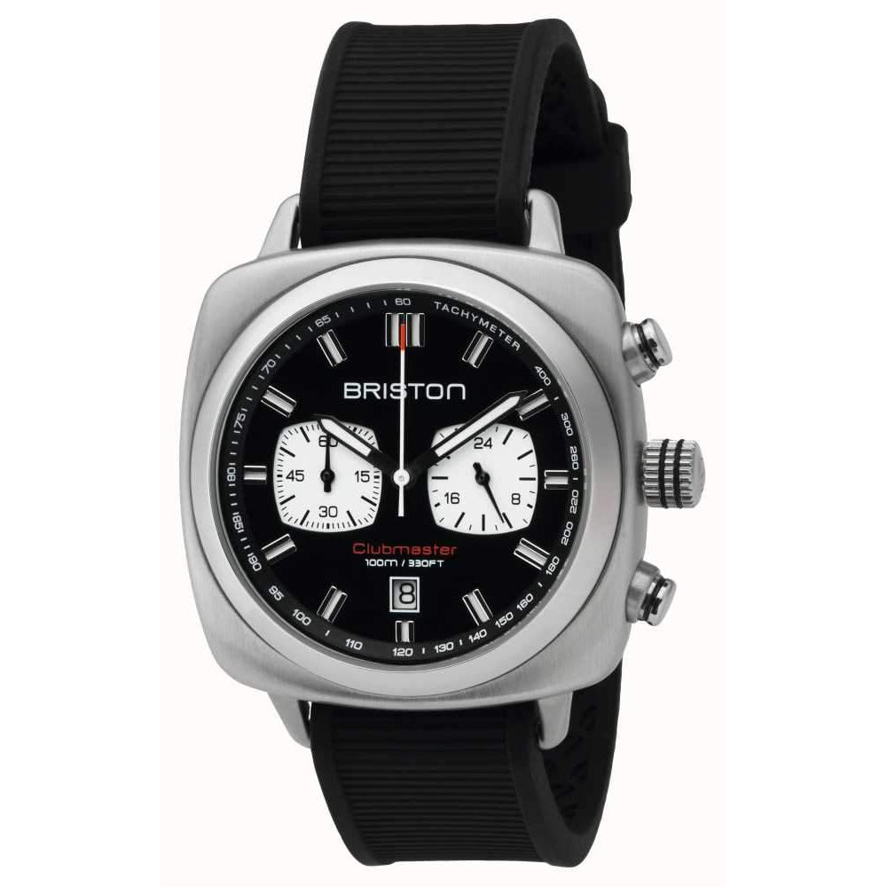 Clubmaster Sport Steel Chrono Black by Briston - The Perfect Provenance