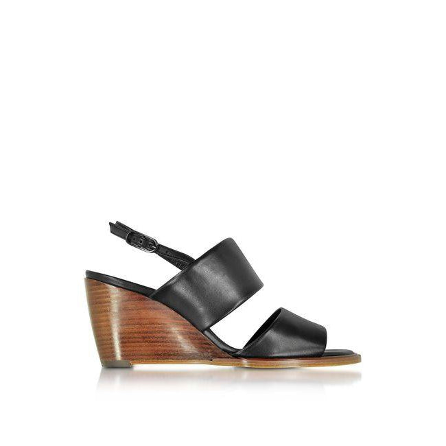 Black-Leather-Wedge-Robert-Clergerie