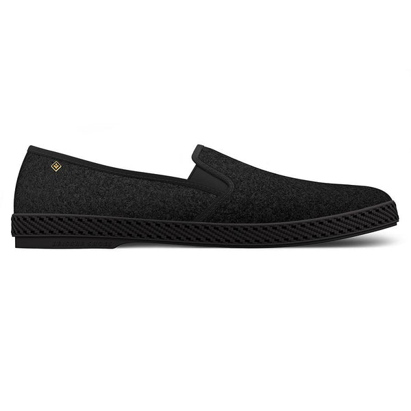 Black Manoir Slip-On by Rivieras - The Perfect Provenance