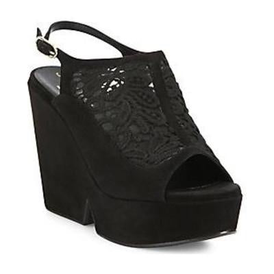 Danat Black Lace Wedge by Robert Clergerie - The Perfect Provenance