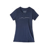 Smile Greenwich Women's Navy Scoop Tee