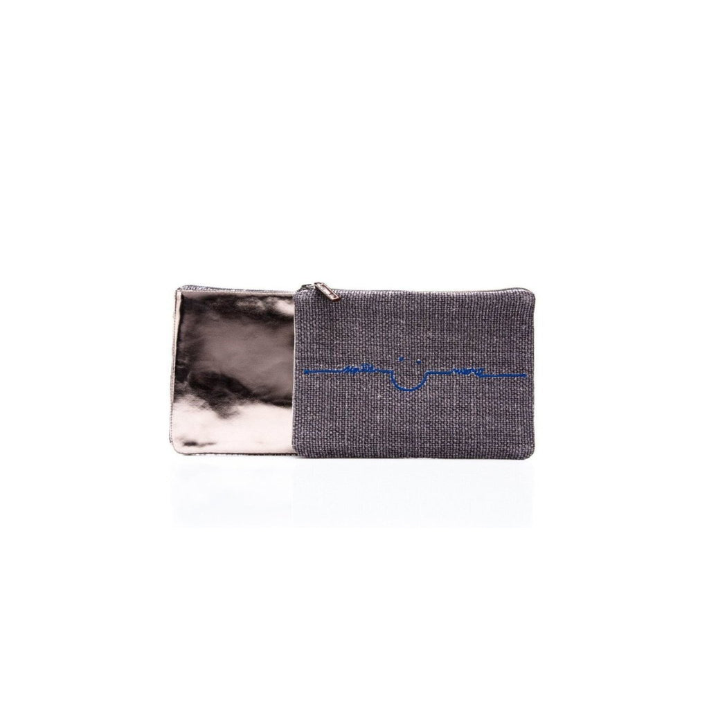 Smile More Make-Up Pouch in Pink or Blue Embroidery - The Perfect Provenance