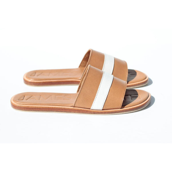 stripe-tan-leather-slides-jamessmith