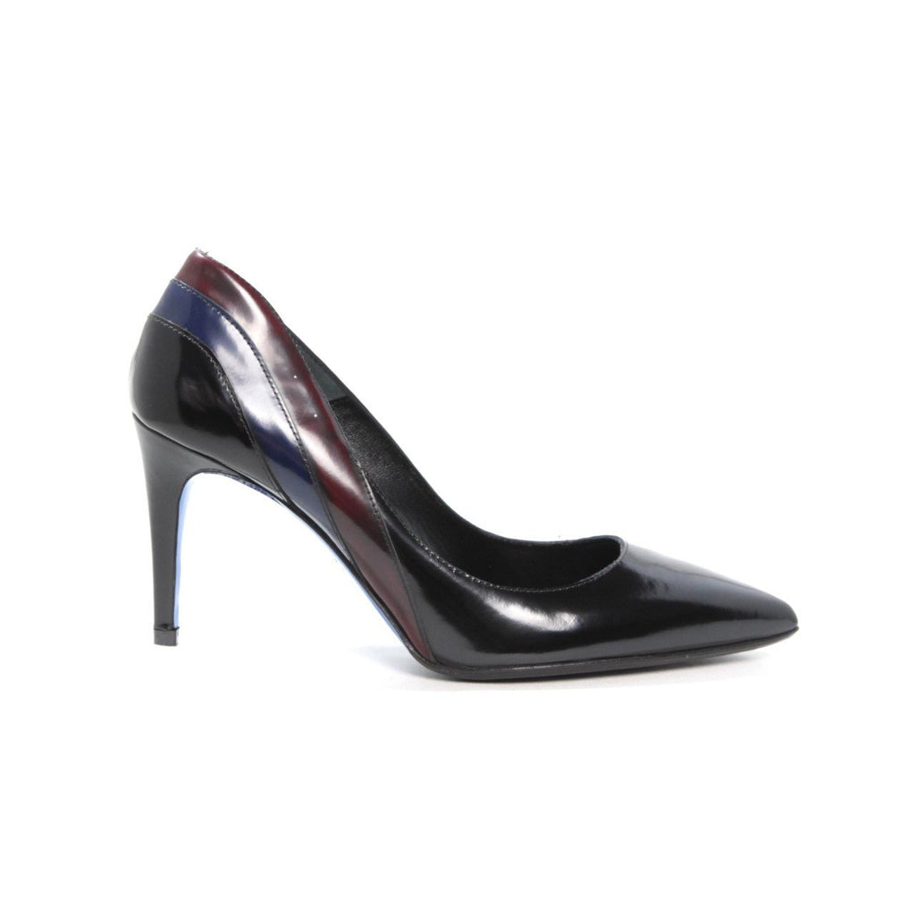 Black Leather Heel with Multi Color Design by Loriblu - The Perfect Provenance
