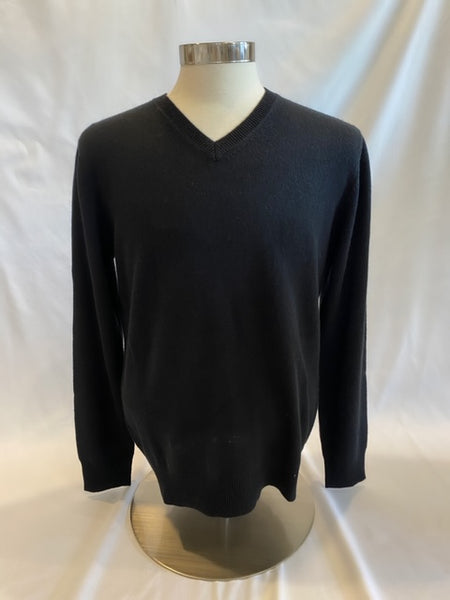 Black V-Neck Sweater by Hartford