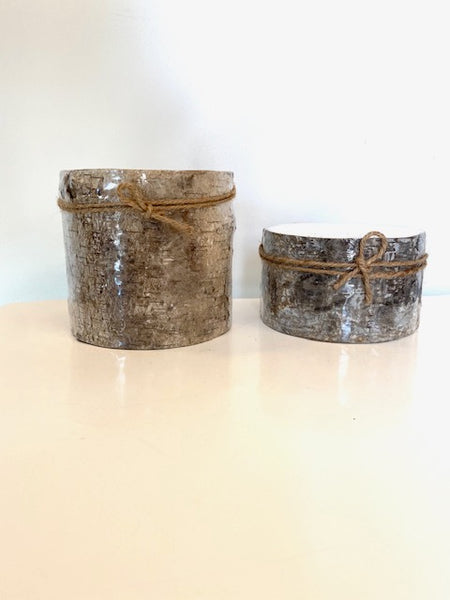 Wood Candles in Two Sizes