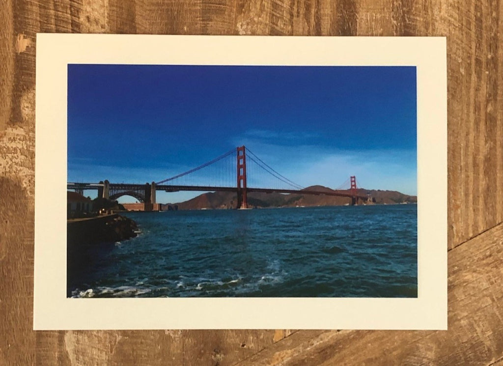 Golden Gate Bridge Blank Greeting Card by Lisa Dirito