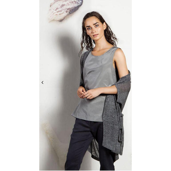 Silk Grey or Cream Tank by ToneT - The Perfect Provenance