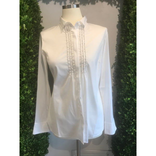 Cotton Embroidered Blouse By Tonet - The Perfect Provenance