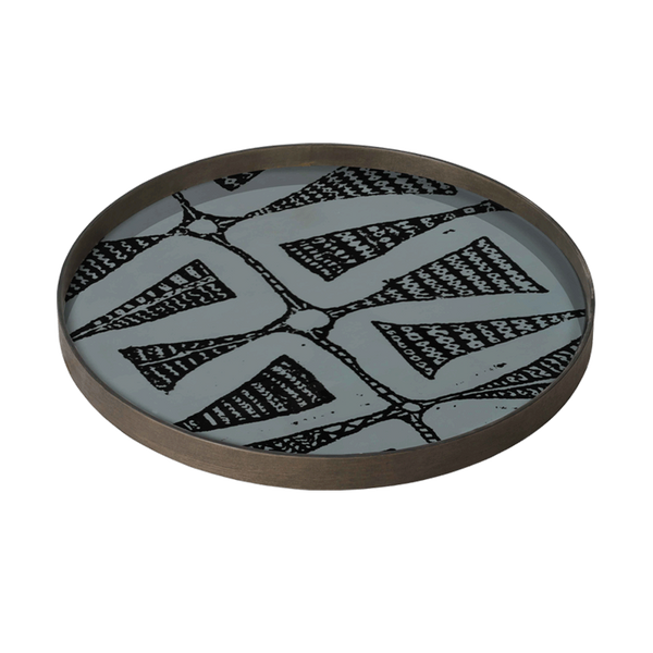 Large Dark Bohemian Glass Tray by Notre Monde - The Perfect Provenance