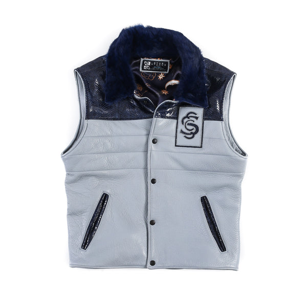 SSC Stuntman Vest (Baby Blue Lamb Leather)