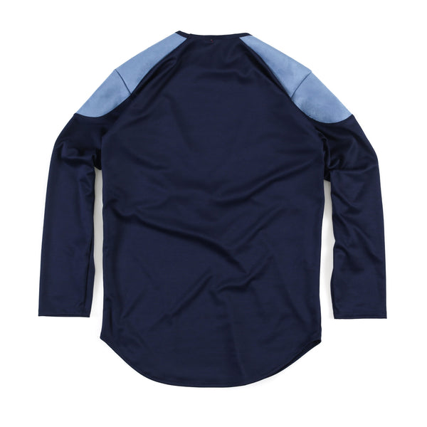 SSC Money Extendo Long Sleeve (Navy Ponte Light Blue/Navy Suede)