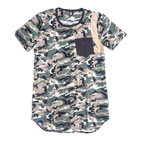SSC Pocket Snub Short Sleeve (Green Beige Camo/Black)