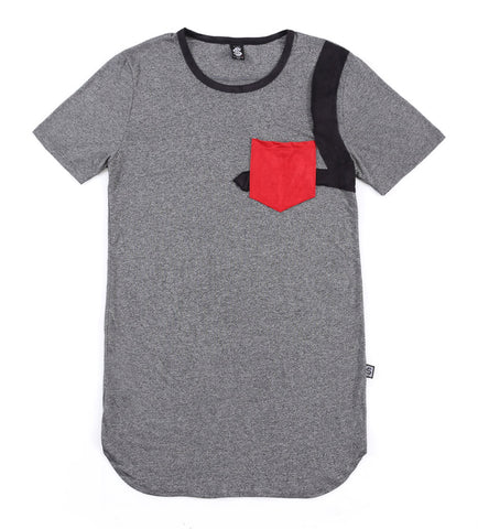 SSC Pocket Snub Short Sleeve (Granite Suede Red/Black)