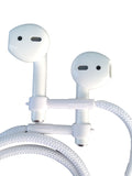 "NEW EARBUDi Cord for AirPods - Grips on and off Your Apple wireless AirPods | Soft 22"" Cord Securely Holds AirPods around your neck"