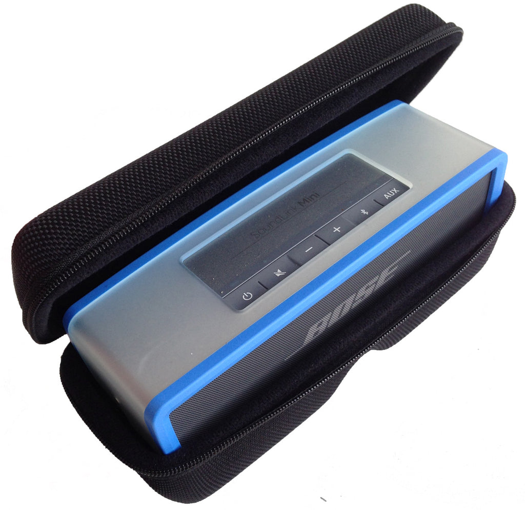 bose soundlink blue. casebudi speaker case - compatible with bose soundlink mini and 2 | sturdy stylish ballistic soundlink blue