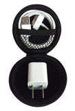 CASEBUDi - Small case for your Earbuds, iPod Shuffle, iPhone Charger, Coins, or small Bluetooth headset