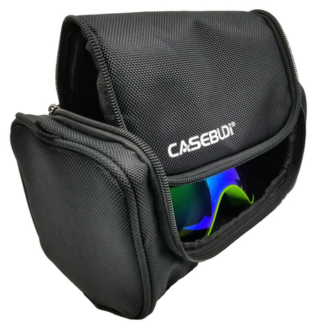 CASEBUDi Rugged Goggle Case - Ballistic Nylon - Room for Ski, Snowboard, VR, Night Vision, ATV, Motocross, Paintball, Safety, or other Goggles and Gear