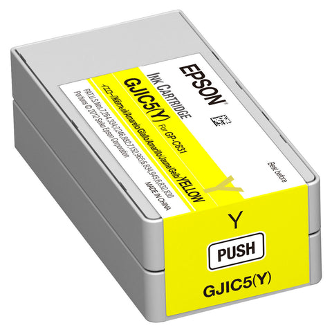 Epson GP-C831 Yellow Ink Cartridge GJIC5(Y) SKU: C13S020566