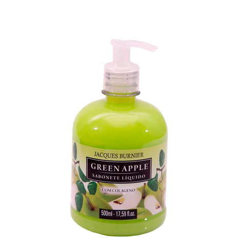Liquid Soap Green Apple Sabonete Líquido com colágeno 500ml Jacques Burnier