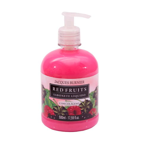 Red Fruits Liquid Soap Sabonete Líquido com Colágeno Jacques Burnier 500ml