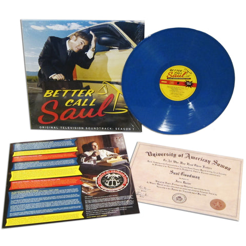 SOLD OUT Better Call Saul: Original Television Soundtrack, Season 1 LP [Desert Sky Blue Vinyl Variant]