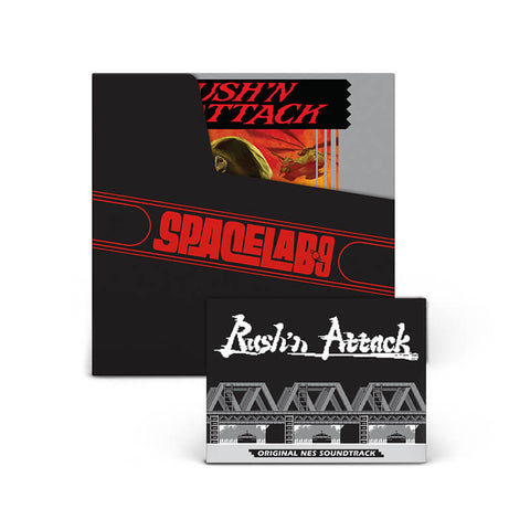 "RUSH'N ATTACK: Original NES Soundtrack 7"" [SL9 Exclusive ""Tiger Stripe"" Vinyl Variant]"