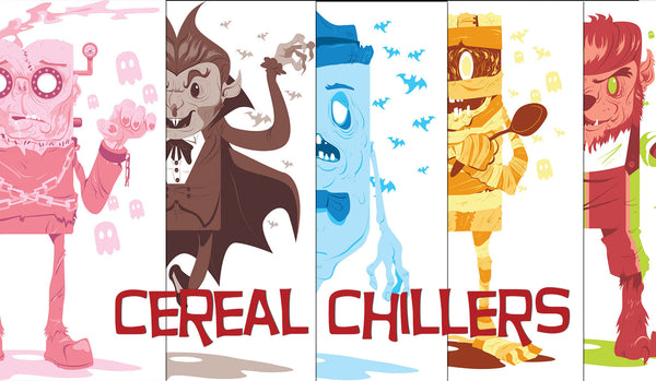 "SOLD OUT Cereal Chillers - Set of Five 18"" x 24"" Art Prints"