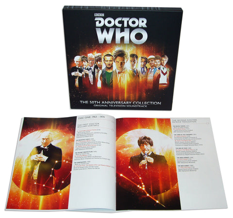 SOLD OUT Doctor Who: The 50th Anniversary Collection 4 LP Box Set [Adipose White Vinyl Variant]
