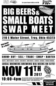 Big Beers and Small Boats Swap Meet, NOV 11th 2017, at SmithFly HQ