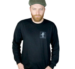 Trailing Hook Long Sleeve Tee Shirt