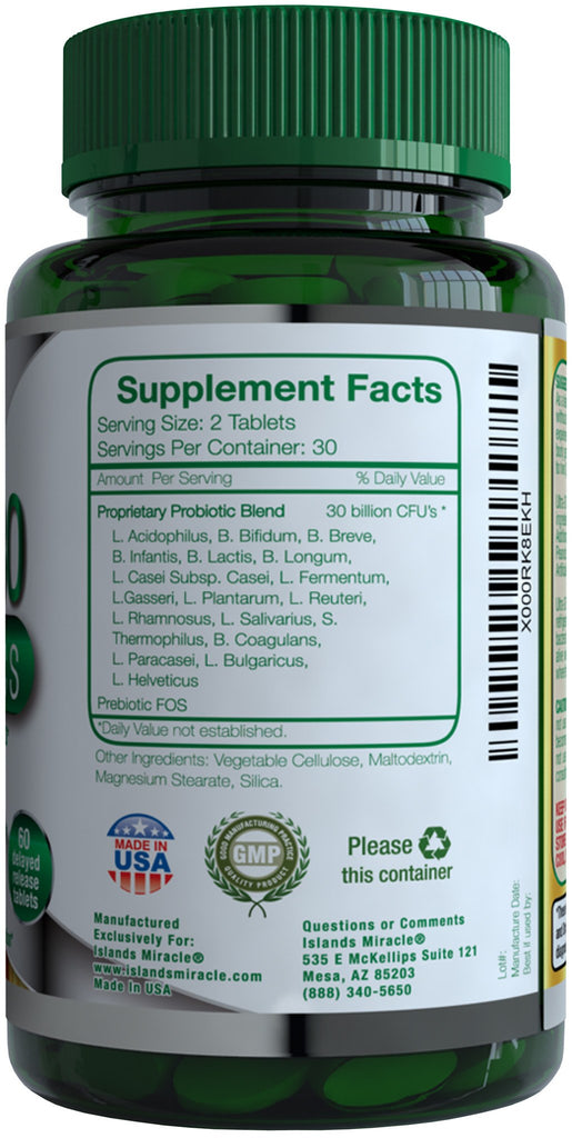 Probiotics 30 Billion CFU's & 18 Strains Supplement