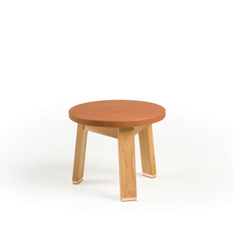 440A Low Stool-Leather