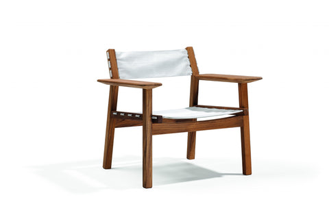 Djuro Lounge Chair-Teak and Fabric