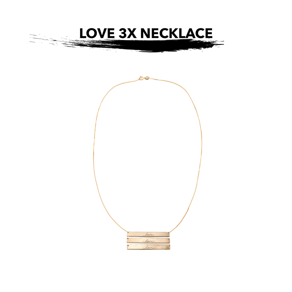 LOVE 3X Necklace