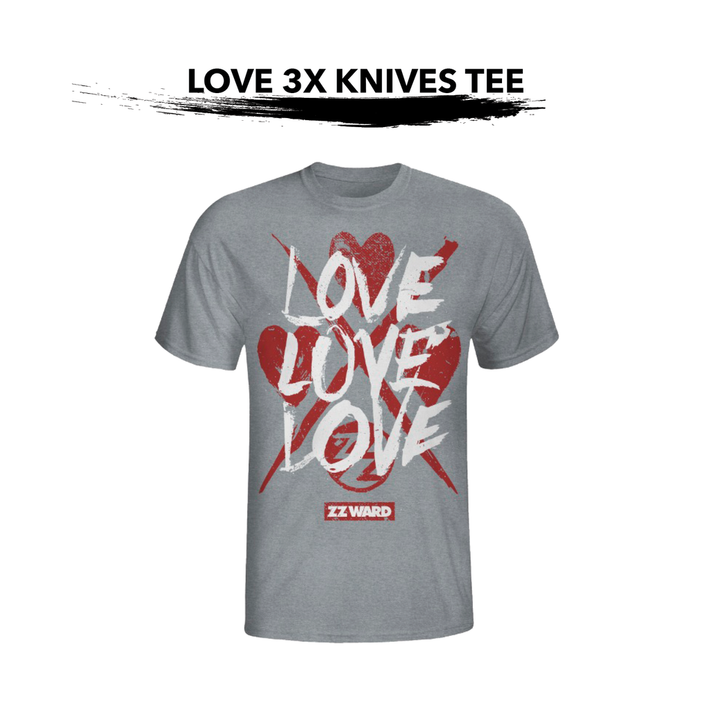 Grey LOVE 3X Knives