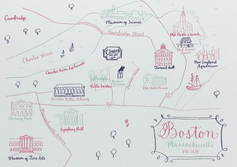 Illustrated Map Notecard
