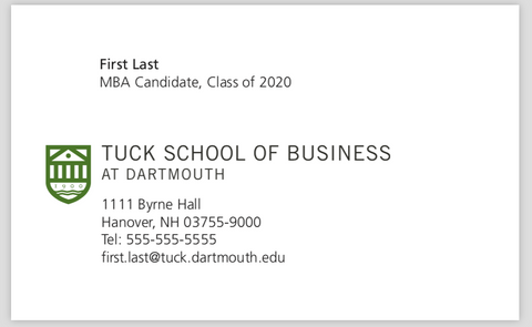 Recruiting Preorder: Business Cards