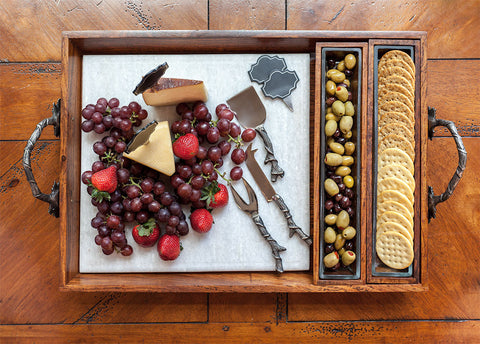 Mediterranean Cheese Tray Set