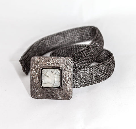 Artisan Made Belt w/Stone 28""