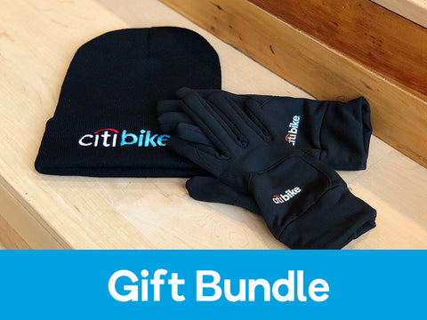 Citi Bike Hat + Touch Screen Gloves Gift Package