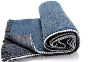 <b>URANO </b><br>Merino wool and Silk Blanket - Teixidors
