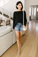 Center Stage Sweater in Black